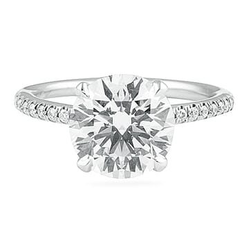 3.04 Carat Platinum Round Diamond Engagement Ring