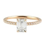 1.10 ct Emerald Cut Rose Gold Engagement Ring