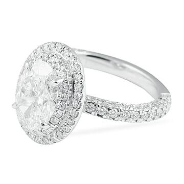 1.80 Carat Oval Diamond Engagement Ring