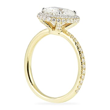 Oval Two Tone Engagement Ring