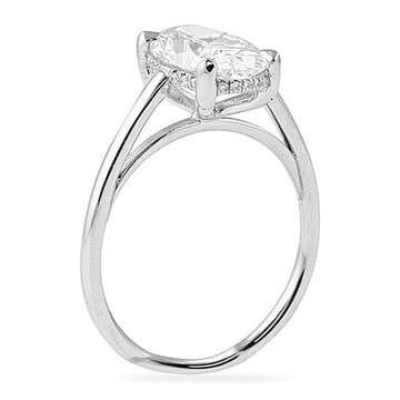 2.25 ct Oval Diamond Platinum Engagement Ring