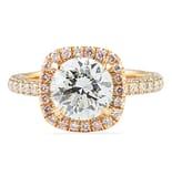 2.05 Carat Round Diamond Rose Gold Engagement Ring