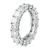 5.82 Carat Square Radiant Cut Platinum Eternity Band