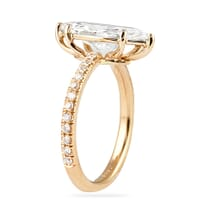 1.90 ct Marquise Diamond Rose Gold Engagement Ring
