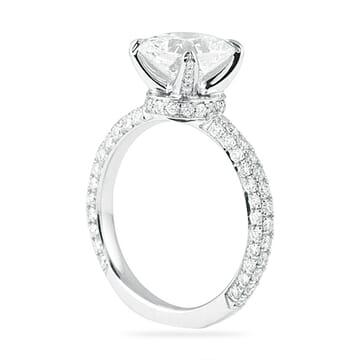 2.01 Carat Cushion Cut Platinum Engagement Ring