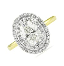 1.03 Carat Oval Diamond Two-Tone Engagement Ring