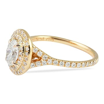 0.70 Carat Oval Diamond Rose Gold Engagement Ring