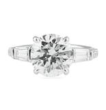 3.01 ct Round Diamond Platinum Engagement Ring