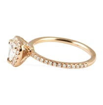0.70 Carat Heart Shape Diamond Rose Gold Engagement Ring