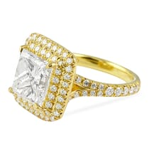 3.05 ct Princess Cut Yellow Gold Engagement Ring