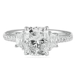 2.40 Carat Cushion Platinum Engagement Ring