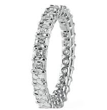 2.50 Carat Asscher Diamond Prong Basket Eternity Band