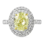 2.22 ct Yellow Diamond Engagement Ring