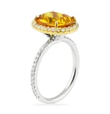 Citrine and Diamond Two-Tone Ring
