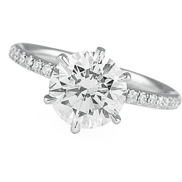 1.80 ct Round Diamond Six-Prong Engagement Ring