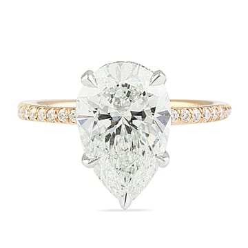 3.02 Carat Pear Shape Signature Wrap Engagement Ring