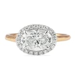 1.30 Carat Oval Diamond East-West Halo Engagement Ring
