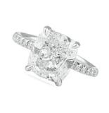 4.50 ct Cushion Cut Diamond Pave Engagement Ring