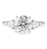 2.70 ct Round Diamond Three-Stone Engagement Ring