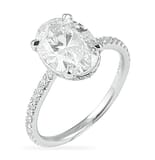 2.30 Carat Oval Diamond Invisible Gallery™ Engagement Ring