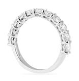 1.36 CT ROUND DIAMOND HALFWAY SHARED PRONG WEDDING BAND