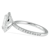 1.00 ct Heart Shape Diamond Halo Engagement Ring