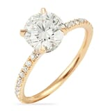 1.55 ct Round Diamond Two-Tone Signature Wrap Engagement Ring