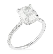 2.50 ct Cushion Diamond Invisible Gallery™ Engagement Ring