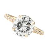 Moissanite and Diamond Rose Gold Ring