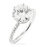 Round Moissanite Two-Tone Signature Wrap Engagement Ring