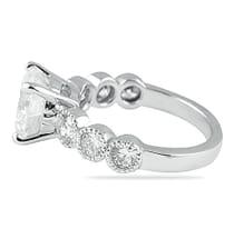 2.50 ct Round Diamond Bezel-Set Band Engagement Ring