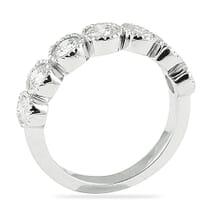 1.10 Carat Round Diamond Large Bezel Set Wedding Band