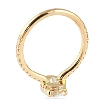 Oval Moissanite Rose Gold Invisible Gallery™ Ring