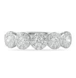 .80 CT ROUND DIAMOND MINI-HALO WEDDING BAND