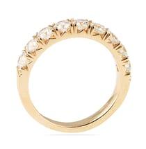 1.25 CT ROUND DIAMOND ROSE GOLD FISHTAIL PAVE BAND