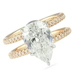 2.60 ct Pear Shape Two-Tone Split Band Engagement Ring