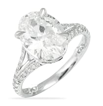 2.00 ct Oval Diamond Engagement Ring with Split