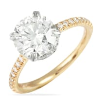 1.70 ct Round Diamond Two-Tone Invisible Gallery™ Engagement Ring