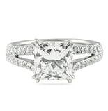 3.01 ct Princess Cut Split Band Engagement Ring