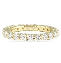 1.6 CT ROUND DIAMOND YELLOW GOLD U-SHAPE ETERNITY BAND
