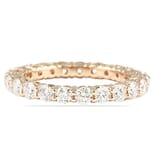 1.6 CT ROUND DIAMOND ROSE GOLD PRONG BASKET ETERNITY BAND