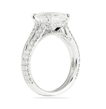 3.01 ct Princess Cut Split Band Engagement Ring