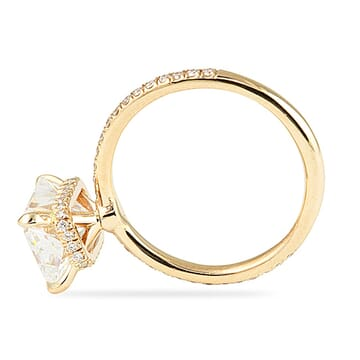 3.00 Carat Radiant Cut Rose Gold Signature Wrap Engagement Ring