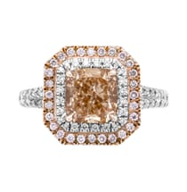 2.07 ct Fancy Orange Diamond Platinum Engagement Ring