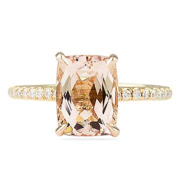 elongated morganite engagement ring