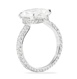 4.00 ct Oval Diamond Invisible Gallery™ Engagement Ring