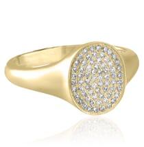 Pave Signet Ring