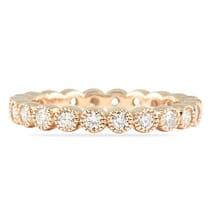 .85 CT BEZEL SET ROUND DIAMOND ROSE GOLD ETERNITY BAND