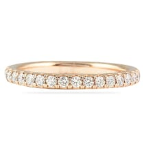 white gold pave eternity band