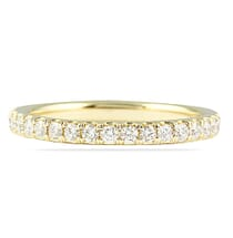 YELLOW GOLD THIN PAVE ETERNITY BAND
